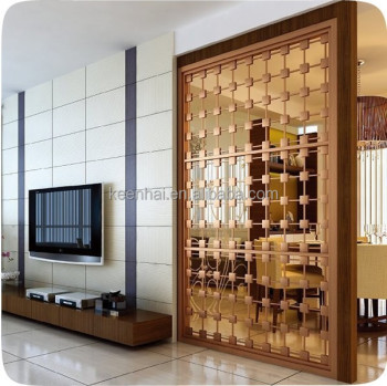 Decorative Laser Cut Partition Screen Stainless Steel Indoor Hall Room  Divider