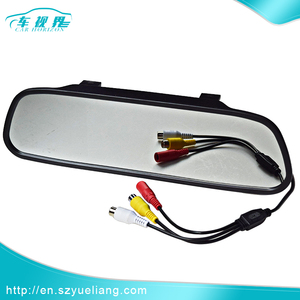 "5 "" inch tft car video monitors/car rear view mirror with PAL/NTSC"