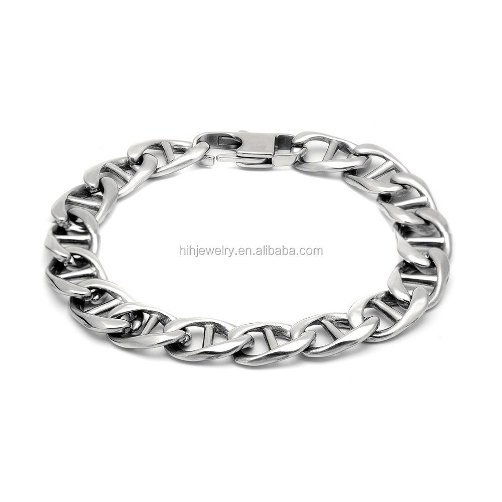 316l Handmade Bracelets Cool For Boys Stainless Steel Chain Bracelet Men