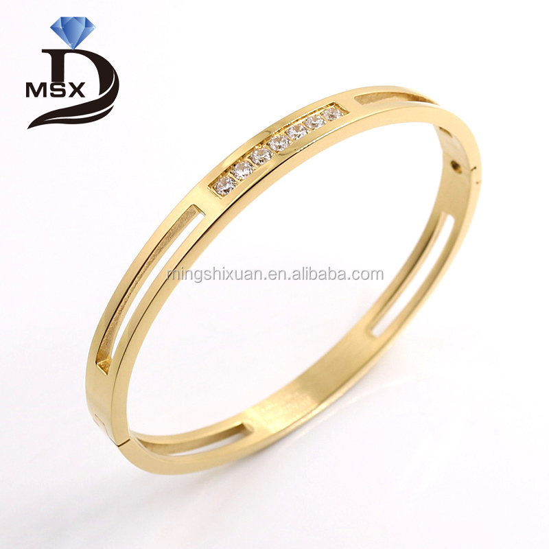 Italy style of Fine Jewelry Hinge Bracelet for Noblewomen