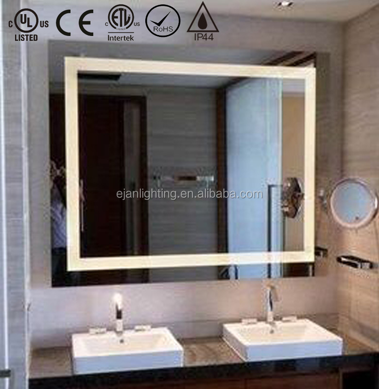 Large Wall Mount Lighted Vanity Mirror With Ul Cul Certificates