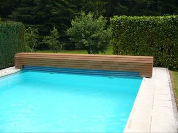 Diy electric swimming pool cover slats safety for children - Swimming pool electrical deck box ...