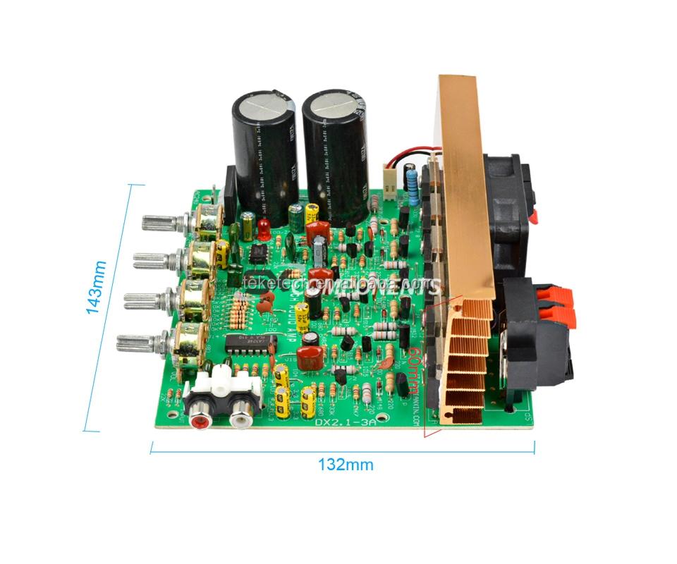 Audio Amplifier Board 2 1 Channel 240W High Power Subwoofer