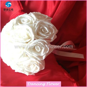 Crepe paper white rose flower ball wedding bouquets bfch 02 buy crepe paper white rose flower ball wedding bouquets bfch 02 mightylinksfo