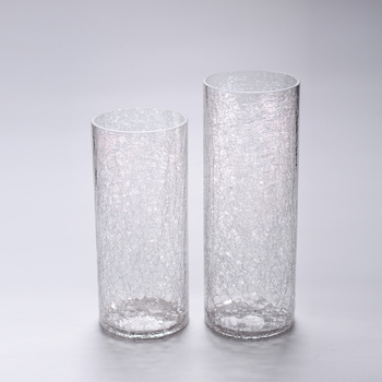 Wholesale Cheap Tall Cylinder Hurricane Clear Ice Crack Broken Ice