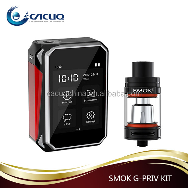 Super Touch Screen Vape G-PRIV 220 Kit vs TFV8 Big Baby Tank , Amazing Vapor G-priv 220w Kit from Cacuq Stock