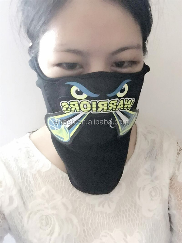 Cool!!! customer customized el carnival mask/sound activated mask for party