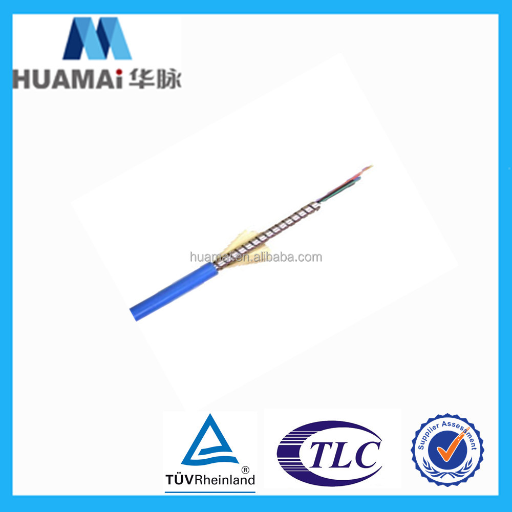 China supplier FTTH 4 TO 12 Fibers Armored single mode Indoor Fiber Optic Cable