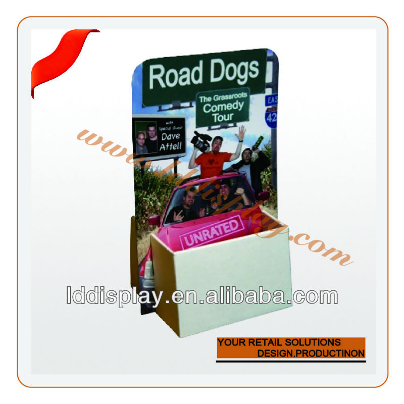 portable custom exhibition corrugated business card holder
