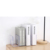 Transparency 3 to 4 space acrylic desktop bookends stand