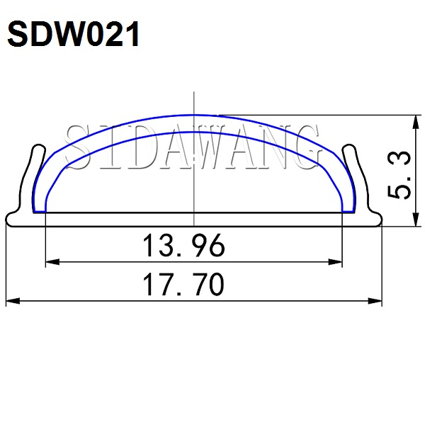 100set(200meter)/pack, 2m Bendable Flexible Led aluminum extrusion, bendable led aluminum profile SDW021