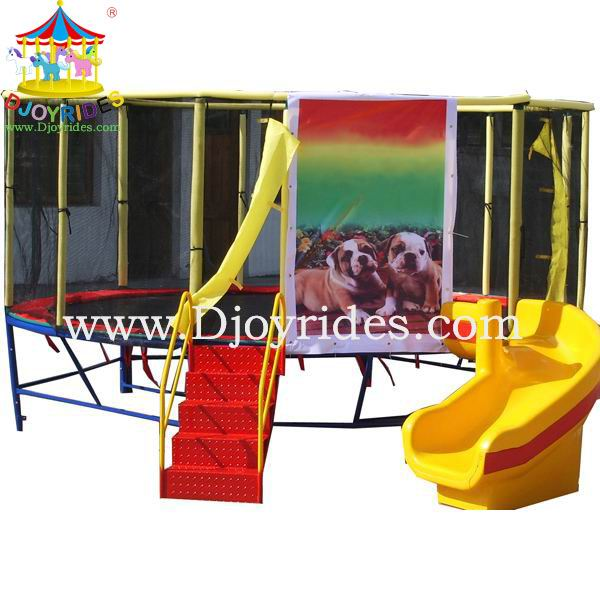 high quality jumping bed with slide for sale