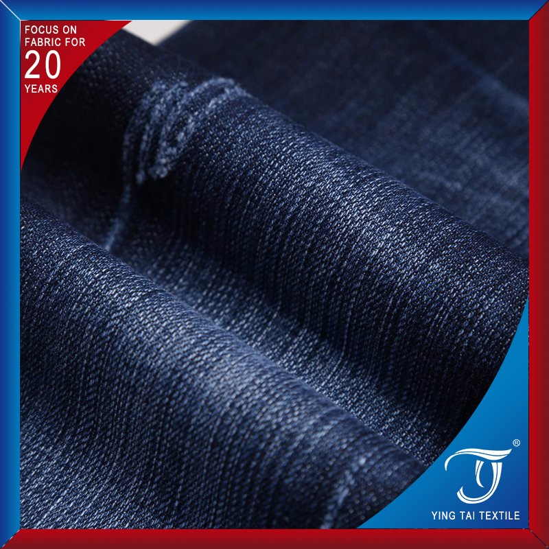 Low Price Slub Style Lots Stock Indigo 98 Cotton 2 lycra Denim Fabric For Jeans