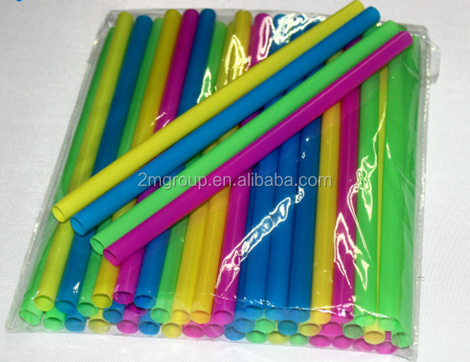 Disposable Large milk tea plastic drinking straw
