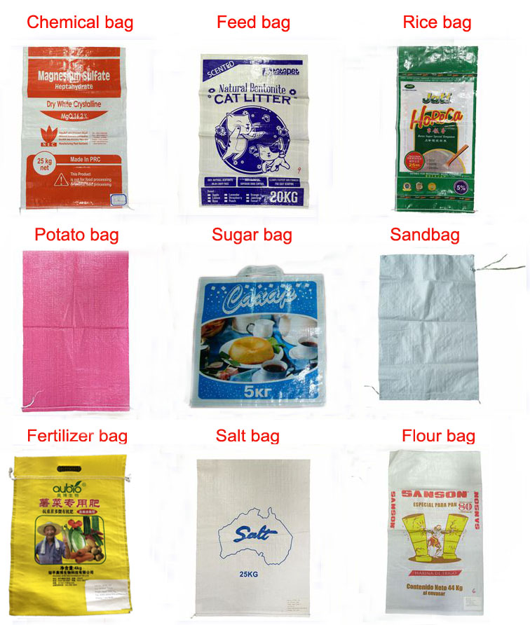 Polypropylene Plastic PP Woven Fishmeal Packing Bags, Animal Feed Packaging Sacks 25kg 50kg