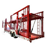 3 Axles Vehicle Transport Semi Trailer Car Carrier Truck Trailer