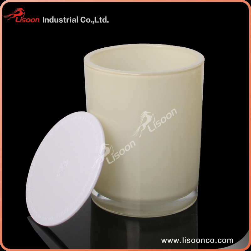 High quality manufactures wholesales glass candle jar with lid