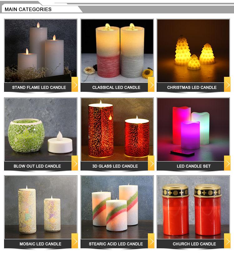 Novos produtos quentes no mercado de Natal com pinha Glitter Vela LEVOU