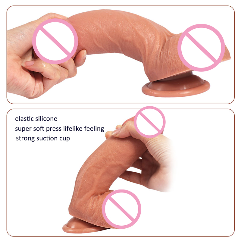 2 pcs free shipping sex products clit big stimulator dildo 2016 strapless dildo 7 inch sex toy penis with suction cup