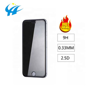 Image of 0.33MM 2.5D 9H Hardness Manufacturer Custom Wholesale Mobile Tempered Glass Film Screen Protector For iphone 6 7 8 X Xr Xs max