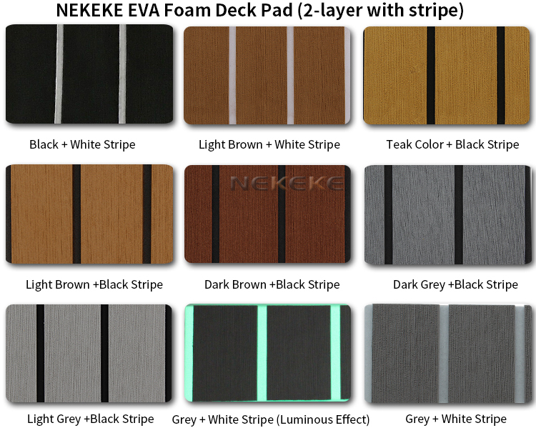 EVA Foam deck pad sheet Grey Faux Teak Sheet Boat Yacht Synthetic Teak Decking 35.4 X 94.5 inch