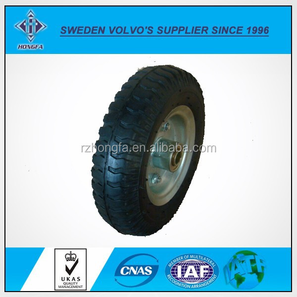 Best Quality Wheel Barrow Solid Rubber Tire / tyred wheels