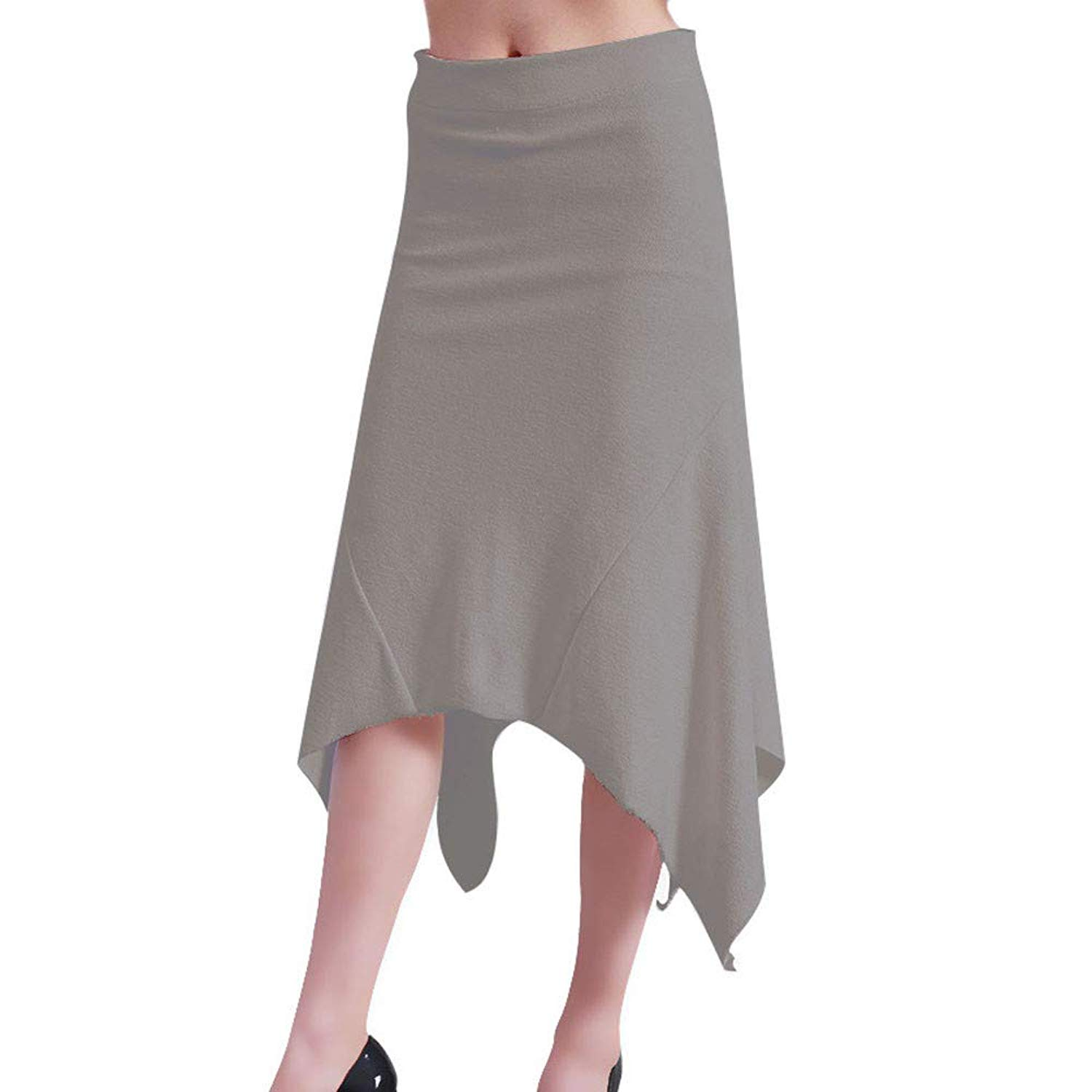 ae45c904d4 Get Quotations · Zainafacai Fashion Women's Pleated Midi Skirt Pure Color High  Waist Mid-Long Skirt Skinny