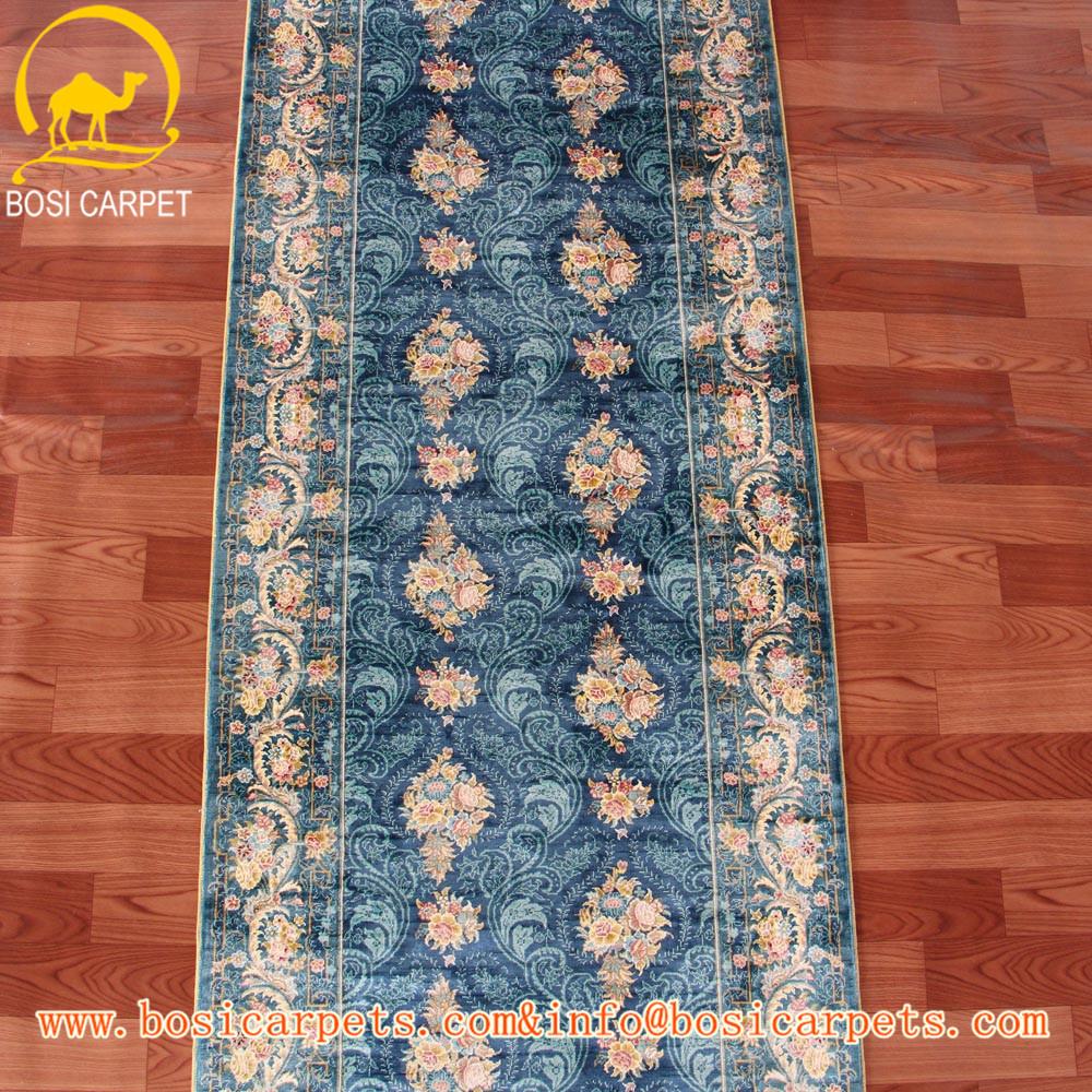 2 5 x 5 39 bleu persan tapis de soie longue hall d 39 entr e salle d 39 escalier main tapis de sol. Black Bedroom Furniture Sets. Home Design Ideas