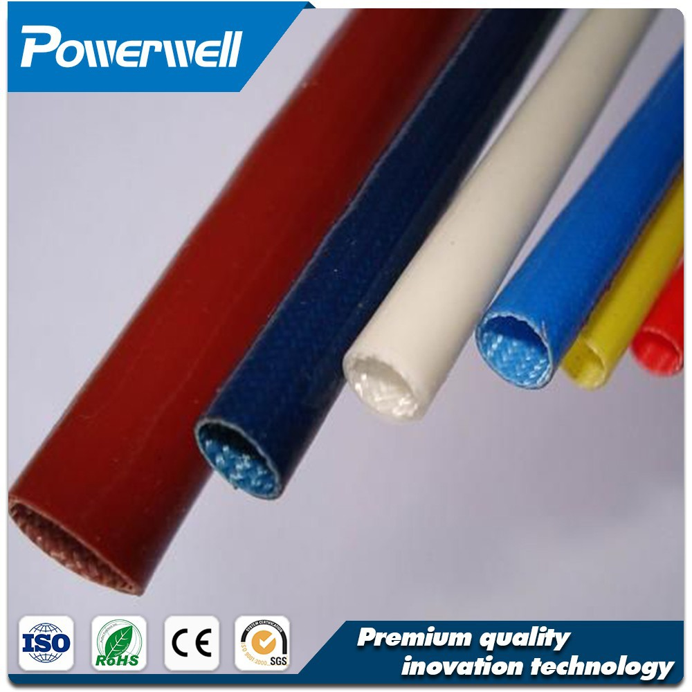 Factory direct supply silicone fiber glass braided sleeving