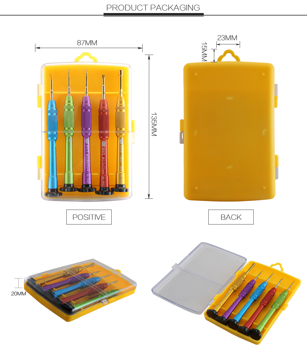BST-9902S Free shipping 5 in 1 New arrival Precision Screwdriver Set for iPhone 7 Opening Repair Tools Kit
