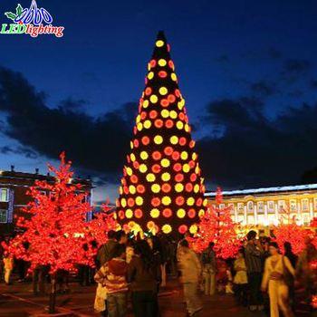 Künstlicher Weihnachtsbaum Outdoor.Im Freien Künstliche Spirale Kugel Weihnachtsbaum Fee Dekoriert Baum Licht Spirale Weihnachtsbaum Licht Buy Riesen Outdoor