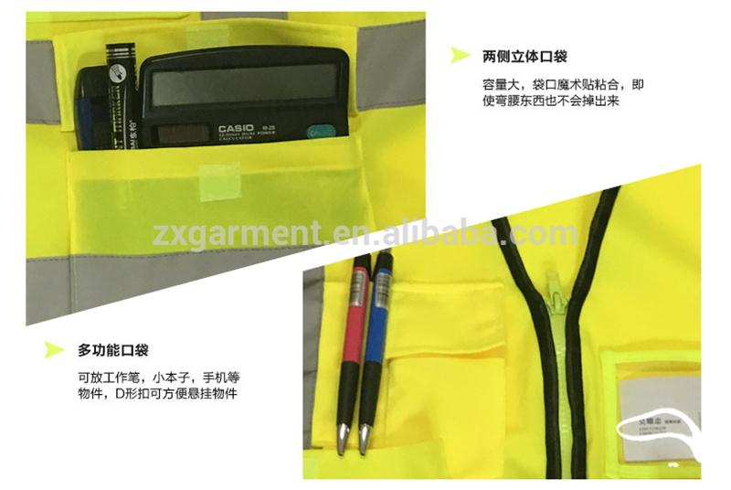 Multifunctional with CE certificate 16led safety vest safty jackets safty equipment