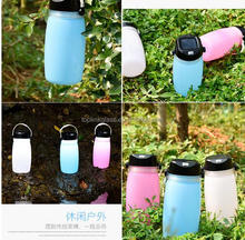 Camping Lantern LED Flashlight Solar Lantern Collapsible Silicone Lantern