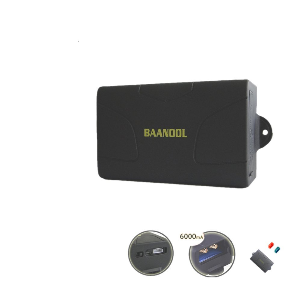 BAANOOL Car GPS Tracker Waterproof Real Time GSM Tracker Operate by Fleet Management GPS Tracking Device Car Tracker Device TK104