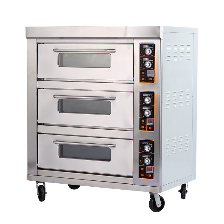 Stainless Steel Triple Layers Six Trays Commercial Electric Oven