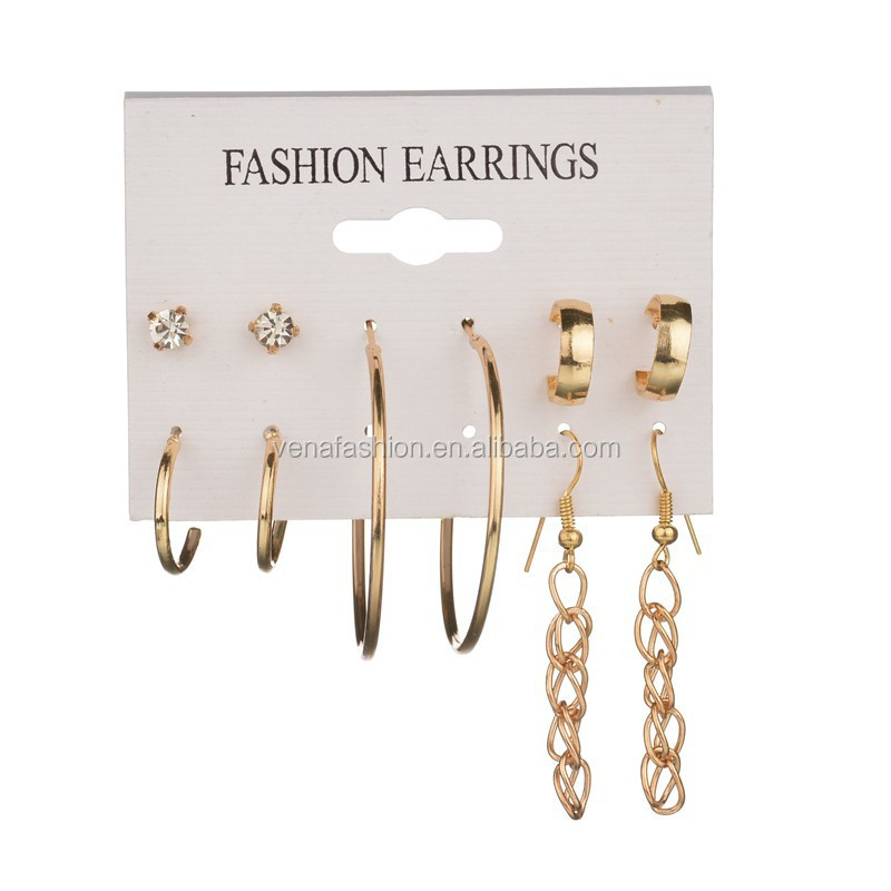 hoop fine hanging chain jewelry sets earring