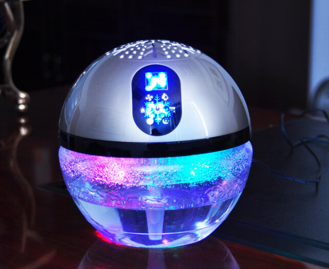 water stofzuiger luchtreiniger led licht globe hout luchtverfrisser aroma globe diffuser anion. Black Bedroom Furniture Sets. Home Design Ideas