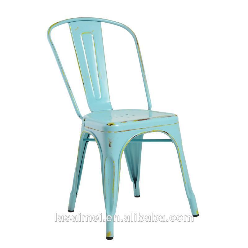moderna de metal apilable silla de comedor con un diseño vintage ...