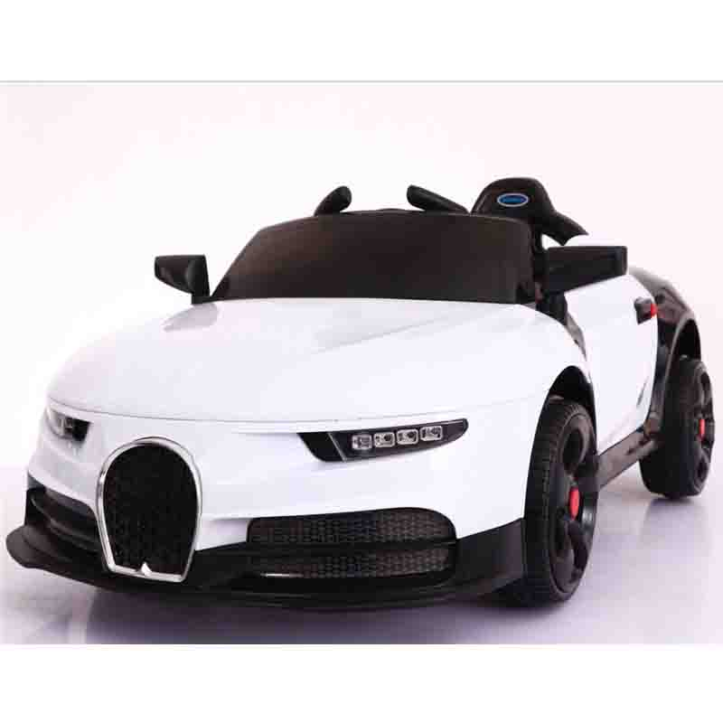 2.4G Remote control real artificial driving kids electric car for children with light soft wheel