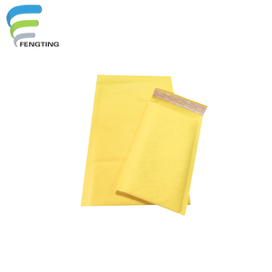 Matte kraft yellow colorful bubble foam mailers padded envelopes