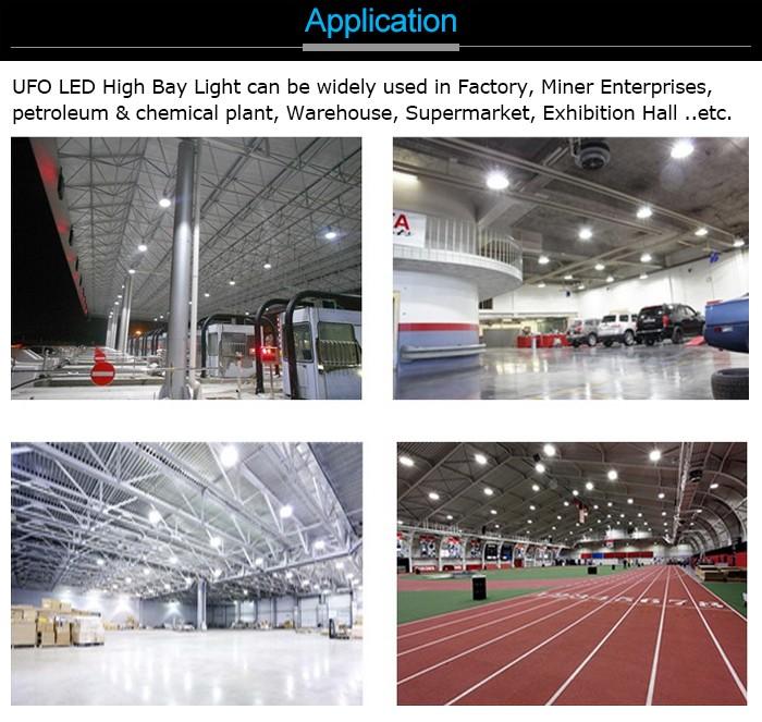 New Design Hook UFO highbay led light 140LM/W/150W/200W/240W LED high bay UFO Replacement HID/HPS 400w warehouse LED UFO