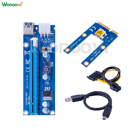 external pci express slot Mini 6pin 30cm extension cable PCI express X1 to USB3.1 USB3.0 converter expansion card external