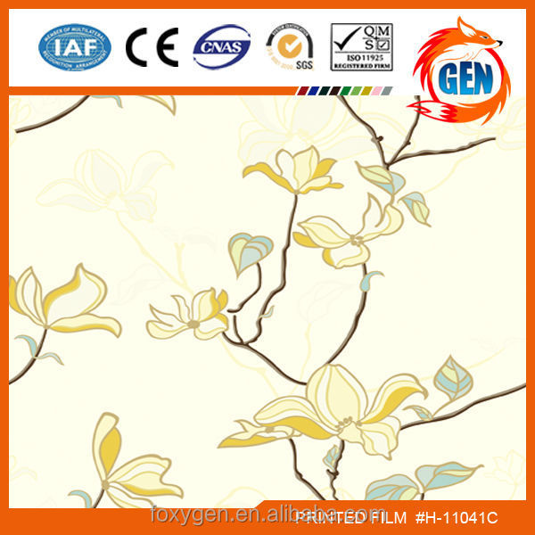 Wall paper factory cheapest pvc film for gypsum board with 15-year warranty for household