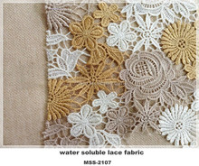 New Fashion Yellow Color Cotton Embroidery Lace Fabric