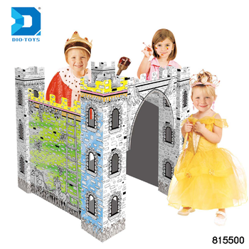 Hot Sale Diy Doodle Little Jungle House 3d Painting Paper House For Kids -  Buy Paper House,3d Painting,Kids Cardboard Houses For Sale Product on