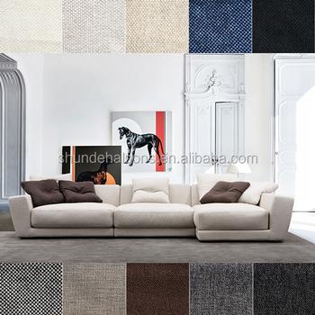 L Shape Sofa Fabric Flexible Seating Arrangement For Living Room