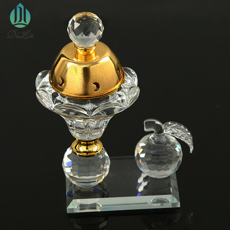 Yiwu Hot sale Handmade crystal buddha burner incense middle east glass crystal incense burner with Custom your logo