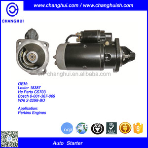 Auto Starter for I SUZU 6HK1 Perkins Engines Lester:18387 Hc Parts:CS703 Bo sch:0-001-367-069 WAI:2-2298-BO
