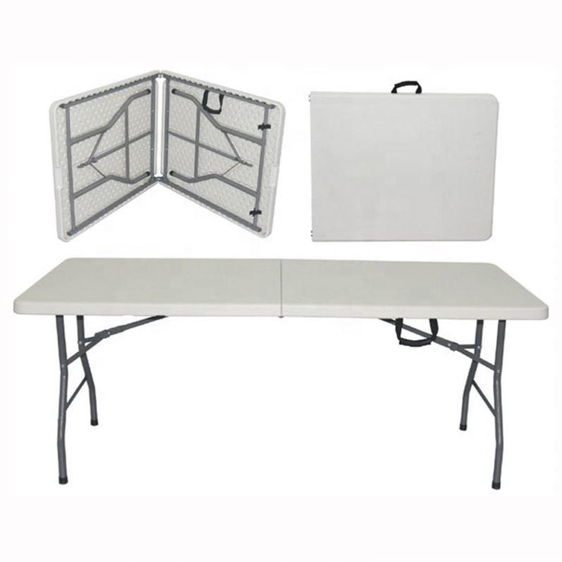 wholesale portable HDPE round plastic folding table
