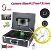 "9"" DVR Underwater Video Pipe Inspection Camera 20-50M Cable 17mm Lens Underground Cave Exploration Underwater Security Camera"